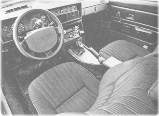 Interior of the early US spec TR7