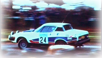 TR7 Rally car in action