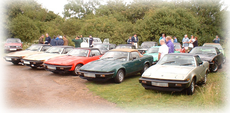 Some of the cars who went out on the convoy run.